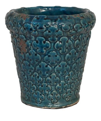 Teal Porcelain Planter