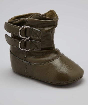 Green Double-Strap Boot