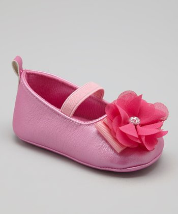 Fuchsia Soft-Sole Flower Flat