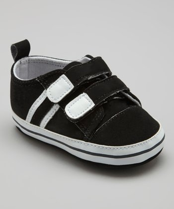 Black & White Double-Strap Sneaker