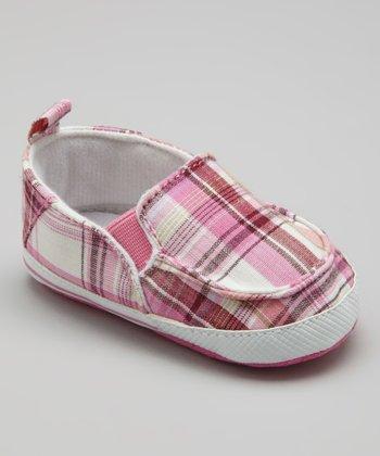 Adorababy Pink Plaid Slip-On Sneaker