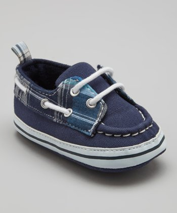 Blue Plaid Boat Shoe