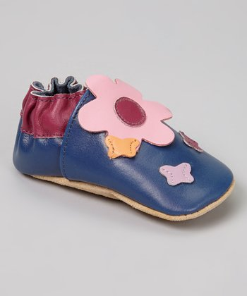 Blue Butterfly Flower Booties