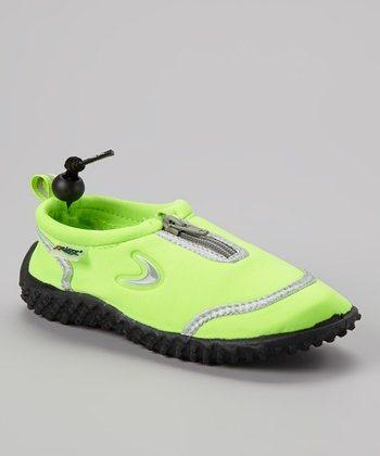 Lime Zipper Water Shoe
