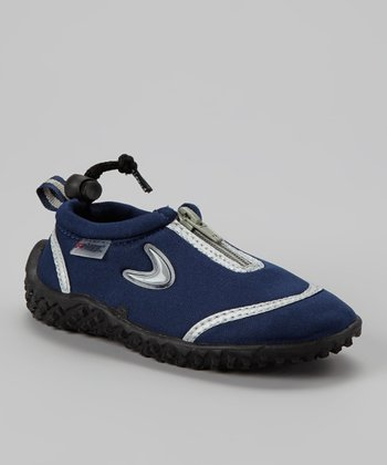 Navy Zipper Water Shoe
