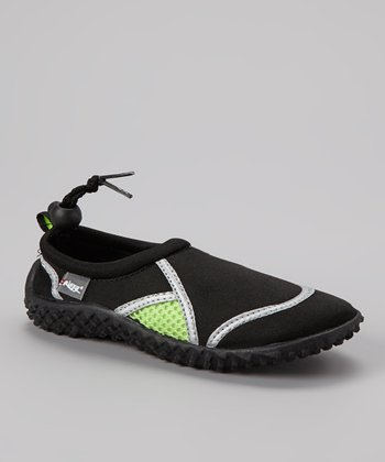Black & Green Water Shoe