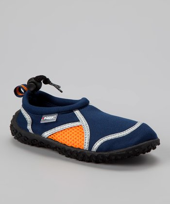 Navy & Orange Water Shoe