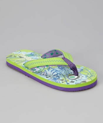 Green & Purple Flip-Flop