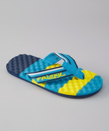 Blue & Yellow Flip-Flop