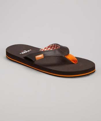 Brown & Orange Flip-Flop
