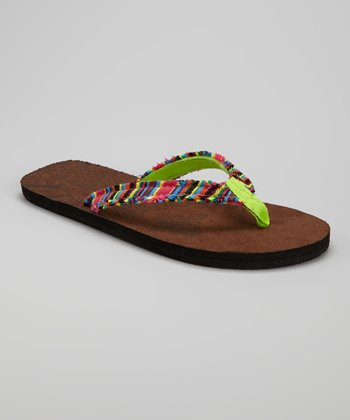 Green Stripe Flip-Flop