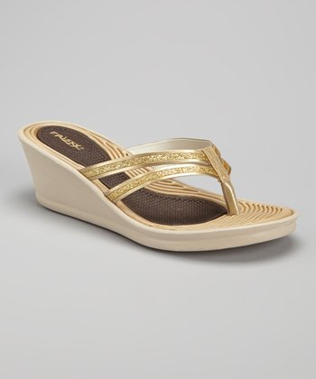 Gold Metallic Flip-Flop