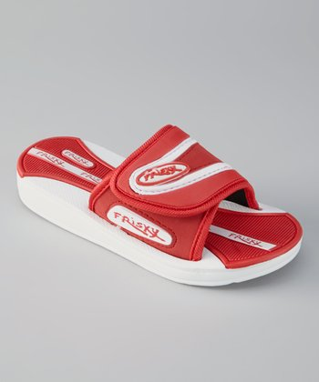 Red & White Sandal