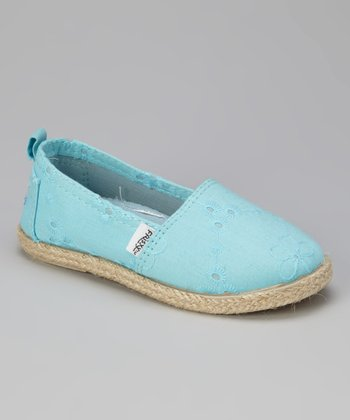 Light Blue Slip-On Shoe