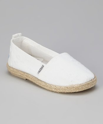 White Slip-On Shoe