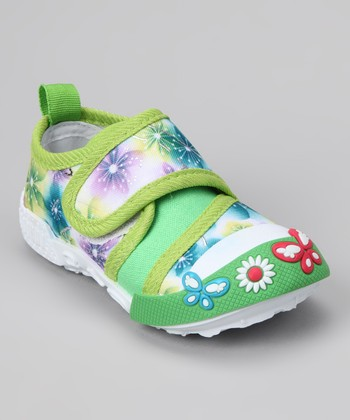 Green Flower Shoe