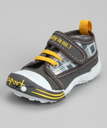 Gray & Yellow 'Baby Is No. 1' Sneaker