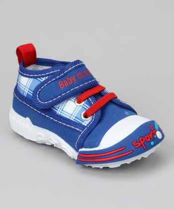 Navy & Red 'Baby Is No. 1' Sneaker