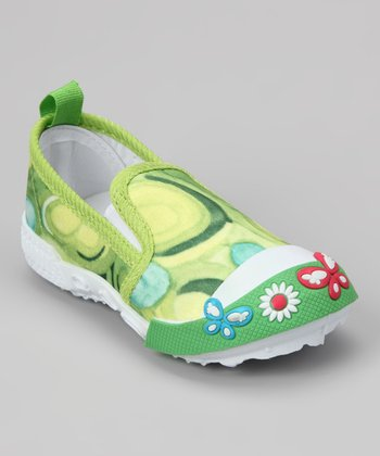 Lime Paint Slip-On Shoe