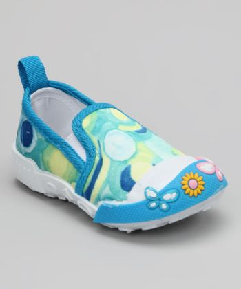 Turquoise Paint Slip-On Shoe