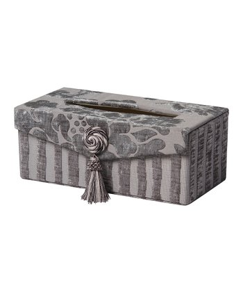 Gray Romance Tassel Tissue Box