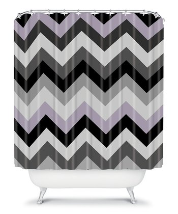Black Zigzag Shower Curtain