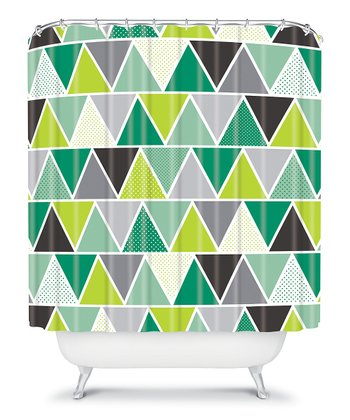 Emerald Triangulum Shower Curtain