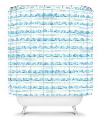 Blue Scallops Shower Curtain