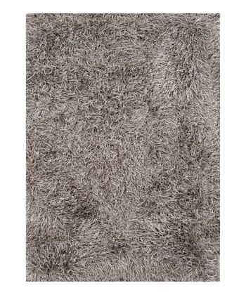 Gray & Black Drift Shag Rug