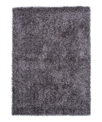 Gray & Black Flux Shag Rug