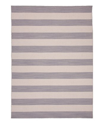 Gray & Black Nuance Flat Wool Rug
