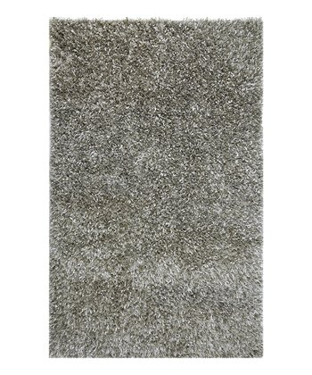 Blue & Gray Transitional Floral Wool-Silk Blend Rug