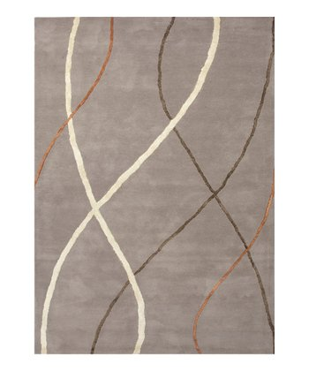Gray & Black Gradation Traverse Wool-Blend Rug