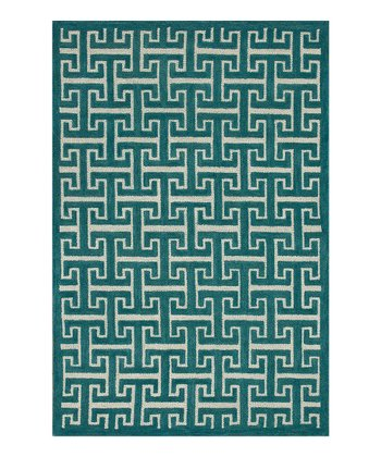 Teal Brighton Wool Rug