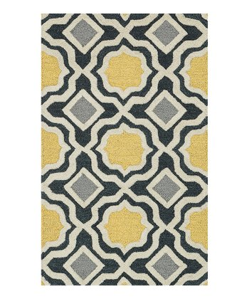 Charcoal & Gold Weston Wool Rug