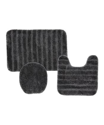 Gray Bath Mat Set