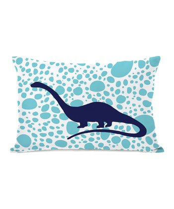 Blue & Navy Apatosaurus Spot Throw Pillow