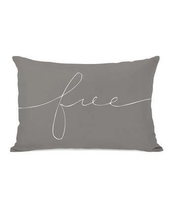 Gray & White 'Free' Throw Pillow