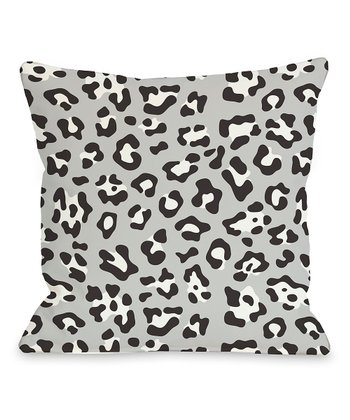 Black & White Gabriella Cheetah Throw Pillow