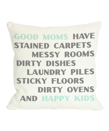 Ivory & Aqua 'Good Moms' Throw Pillow