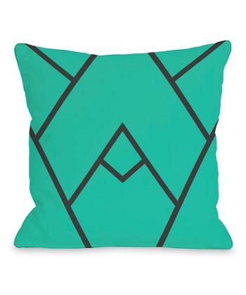 Turquoise Mountain Peak Throw Pillow