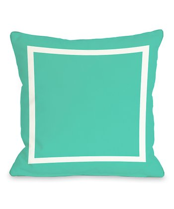 Turquoise & White Samantha Simple Throw Pillow