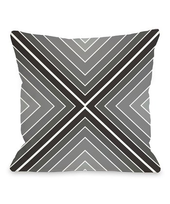 Black & White Marks the Spot Square Throw Pillow