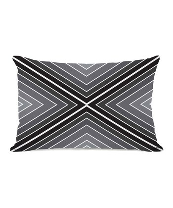 Black & White Marks the Spot Rectangular Throw Pillow