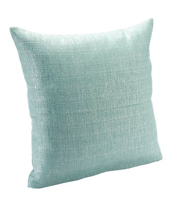 Metallic Aqua Sparkly Throw Pillow