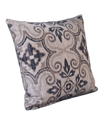 Oatmeal & Gray Sumatra Throw Pillow