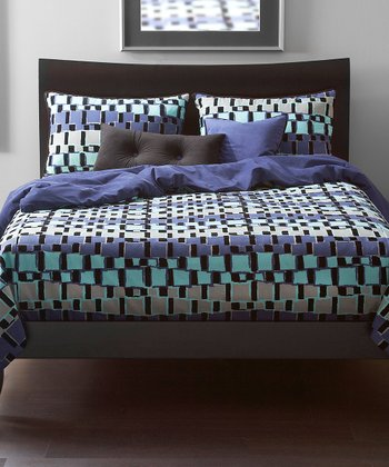 Turquoise & Gray Urban Exchange Storm Duvet Set
