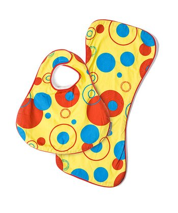 Solar Bug CoZi Drip & Drool Bib & Burp Cloth