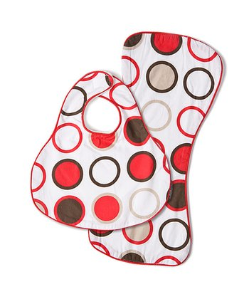 Strawberry Bug CoZi Drip & Drool Bib & Burp Cloth