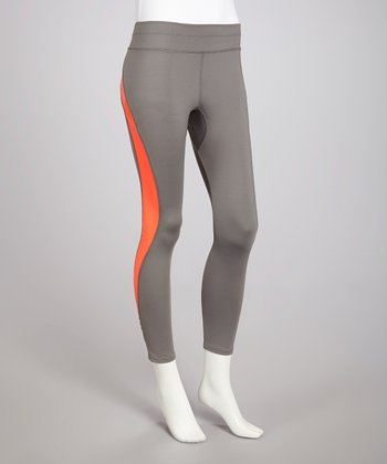 Charcoal & Melon Swerve Tech Yoga Pants